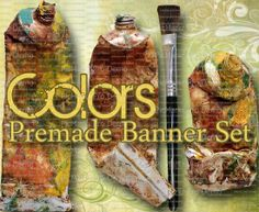 Shop Banner Set  Premade Banner Set  Etsy by LalipopsandDaisies #paint #paintings #colors