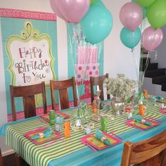 pretty colors for a girls birthday party