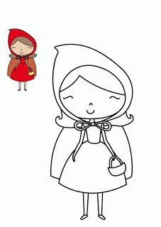 Free pattern for felt little red riding hood doll