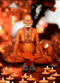 Saints Of India, Swami Samarth, Devotional Quotes, Gods And Goddesses, Galaxy Wallpaper, Shiva, Buddha, Lord, Statue