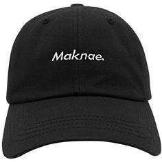 Maknae Dad Hat ❤ liked on Polyvore featuring accessories, acc and hats