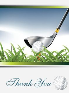 Golf Thank You Card Golf Cards Pinterest Golf Golf Cards And - Card template free: golf christmas cards