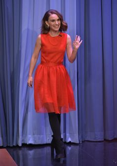Fabulously Spotted: Natalie Portman Wearing Dior - The Tonight Show Starring Jimmy Fallon - http://www.becauseiamfabulous.com/2016/01/29/fabulously-spotted-natalie-portman-wearing-dior-tonight-show-starring-jimmy-fallon/