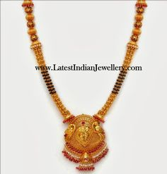 Black Beads Mangalsutra Haram (With images) Gold Mangalsutra Designs, Gold Earrings Designs, Gold Jewellery Design, Diamond Jewellery, Gold Designs, Necklace Designs, Gold Jewelry Simple, Silver Jewelry, Beaded Jewelry