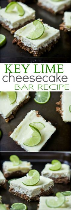 Easy Key Lime Cheesecake Bars made lighter with Greek yogurt and a delicious cinnamon pecan crust. This simple dessert is pure cheesecake perfection and guaranteed to win over the hearts of many! | http://joyfulhealthyeats.com