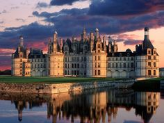 "Chateau de Chambord, France - Part of: http://www.topinspired.com/top-10-fairy-tale-castles-in-europe/ - Having read the biographies of Catherine de Medici and Diane de Poitiers, this château is nicknamed the ""Château des Dames"" because King Henry II gave this castle to his mistress Diane de Poitiers, but when he died, his wife, the Queen Catherine de Medici threw out Diane and installed herself there. A must visit! - Dragan https://twitter.com/Colorful_Planet"