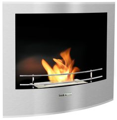 BlackandStone VioFlame Built-in Wall Mount Fireplace