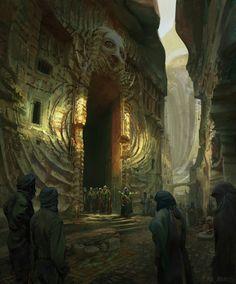 Fremen Sietch by Finnian Macmanus #FantasyArt #ファンタジーアート #Fantasie kunst #Фэнтези искусство #art d'imaginaire #arte de la fantasía  - http://wp.me/p7Gh1Z-Or #kunst #art #arte #sztuka #ਕਲਾ #konst #τέχνη #アート