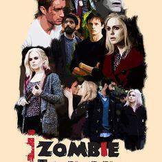iZombie Obsessed // etc I Zombie, Rose Mciver, Bradley James, Fan Art, Criminal Minds, V Neck T Shirt, Tv Series, Classic T Shirts, Tv Shows