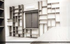 #wood #living #room #library #project #dnassociati #interior #design #studio #Napoli