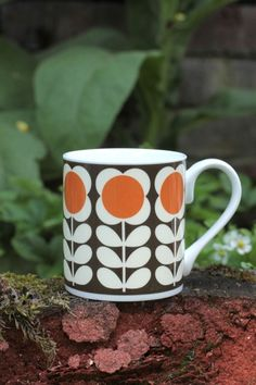 Orla Kiely - Mugg - Poppy steem orange