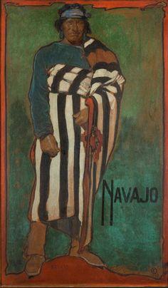 Gerald Cassidy, Navajo, Casein on Paper, 1922