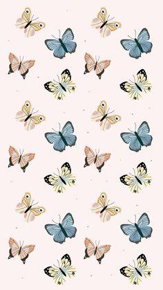 Papillon / Butterflies Girly iPhone Wallpaper Home Screen