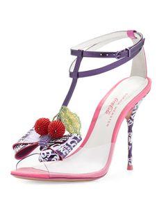 Lana Cherry Coke Sandal, Purple by Sophia Webster at Neiman Marcus.