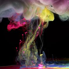 paint dropped into water by Mark Mawson