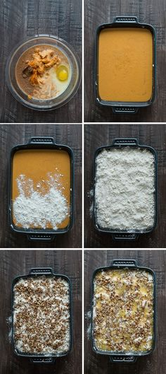 Pumpkin Dump Cake - This is our favorite fall dessert and I can't believe how easy it is to make! Pumpkin Dump Cake - This is our favorite fall dessert and I can't believe how easy it is to make! Köstliche Desserts, Holiday Desserts, Delicious Desserts, Yummy Food, Easy Fall Desserts, Cheesecake Desserts, Homemade Desserts, Dessert Oreo, Dessert Party