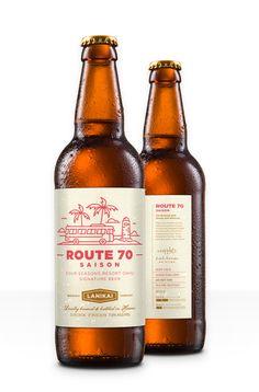 Lanikai Brewing Co. Bottle Labels, Beer Labels, Beer Bottles, Brewing Company, Cold Brew, Beer Packaging, Print Packaging, Beer Label Design, Beer Brands