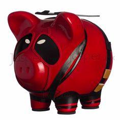 Alcancía cerdito de cerámica - Deadpool $330.00