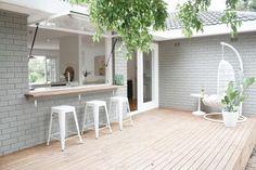 Ideas For Backyard Pergola Ideas Patio Design Bricks Outdoor Rooms, Outdoor Living, Indoor Outdoor Kitchen, Outdoor Kitchens, Luxury Kitchens, Outdoor Furniture, Casa Patio, Diy Patio, Patio Bar