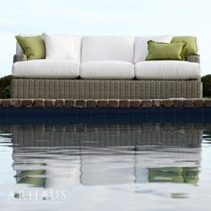 Our Wyatt Sofa looks like the perfect place to enjoy the sun!