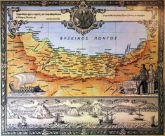 Greek Map of the Pontos Region Rum, Past, Greece, Vintage World Maps, Turkey, Greece Country, Past Tense, Turkey Country, Rome