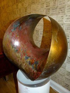 Современная абстрактная скульптура, 4D сфера в бронзе Samvado изображение 2