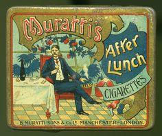 Muratti's After Lunch Cigarettes tin