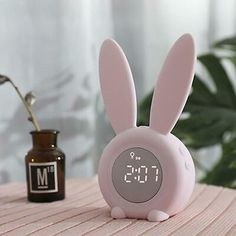 Kids Alarm Clock for Kids, Children's Sleep Trainer Alarm Clocks for Girls Boys Bedroom, Night Light for Kids, 5 Ringtones, Touch Control and Snoozing with Rechargeable Kid Alarm Clocks Cute Alarm Clock, Alarm Clocks, Alarm Clock Design, Cute Clock, Wall Clocks, Girly Things, Cool Things To Buy, Clock For Kids, Kids Clocks