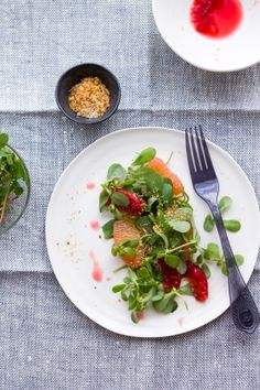 Sips and Spoonfuls: Citrus and Watercress Salad with Toasted Coconut and Peanuts  #GF, #citrus