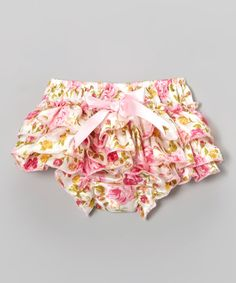 Take a look at this Tutus by Tutu AND Lulu Pink & Yellow Floral Bloomers - Infant on zulily today!