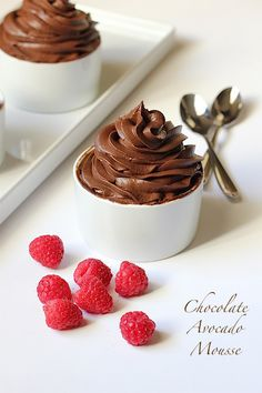 Chocolate Avocado Mousse! So good! Can't taste the avocado at all! Photography by Tiffany of Savor Home, Recipe by Giada de Laurentiis