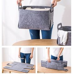 Diy storage 452471093812496144 - Felt Storage Basket Tutorial Source by Fabric Crafts, Sewing Crafts, Sewing Projects, Diy Storage Boxes, Storage Baskets, Hanging Storage, Fabric Storage, Cardboard Storage, Art Storage