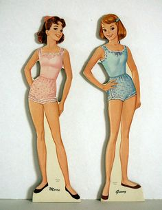 Paper Doll Whitman Vintage 1960 Teen Time Dolls by EvelynnsAlcove