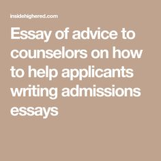 Ways College Application Essays And High School Essays Are