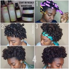 """@nae2curly Ive been seeing so many cute hair cuts but don't want to cut my hair. Soooo….To create my faux tapered fro I used @embracethenaturalyou """"I Want It All collection"""". I did a twist n curl on freshly washed hair. I used two diff colored perm rods. The yellow rods creates tight curls (faux tapered look) while the purple rods gives a lot of volume. I went to bed and my hair was dry the next morning(about 8hrs). My hair is shiny and soft…love it!!!! #hair2mesmerize #naturalhair #healthyh"""