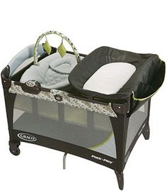 "Graco Pack 'n Play with Newborn Napper Station LX Play Yard - Caraway - Graco - Babies ""R"" Us"