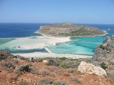 Balos, Chania. Nice beach, and most likely not crowded.