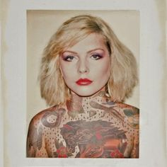 These Zany Photos Re-Imagine Classic Hollywood Icons... With Tattoos | Debbie Harry