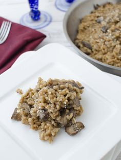 Farro Risotto with Mushrooms recipe - Delicious Knowledge