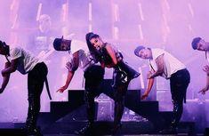 Ariana Grande performing at the Wango Tango 2018.