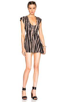 ROBERTO CAVALLI Denim Printed Mini Dress. #robertocavalli #cloth #