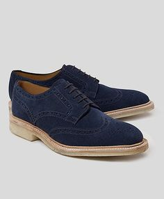 Navy Perforated Wingtips