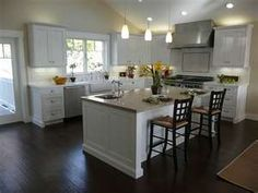 our kitchen before/after | dark wood, dark and woods