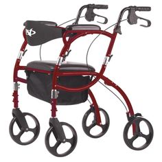 Height-adjustable rollator (4 casters, with seat) - Airgo® Navigator