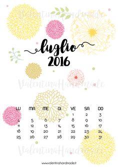 Scarica gratuitamente la pagina calendario di luglio 2016!!