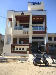 ideas build for real. Bungalow Haus Design, Duplex House Design, Simple House Design, House Front Design, House Design Photos, Modern House Design, 2bhk House Plan, Model House Plan, Indian Home Design