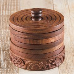 handcrafted Set of 6 Olive Wood Coasters in Pot natural Beer Glass Coasters