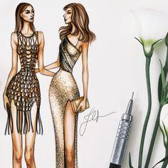 Mother/Daughter/Versace • • • • #fashionillustration #fashionillustrator #fashionsketch #illustration #illustrator #drawing #sketch #copic #streetstyle #beauty #model #details #handbag #applepencil #ipadpro #adobesketch #nyfw #kendalljenner #versace #kaiagerber #cindycrawford #milanfashionweek #mfw #vogueitalia @kaiagerber @cindycrawford @versace_official