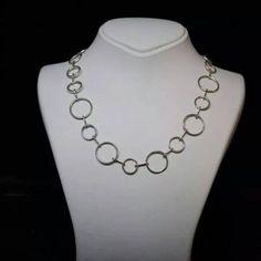 gümüş yuvarlak halkalı zincir - silver chains