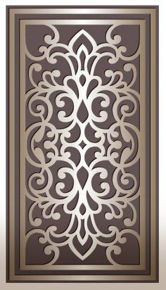 Laser Cut Decorative Panel Design DXF File - The vector file Laser Cut Decorative Panel Laser Cut Panels, Metal Panels, Laser Cut Wood, Laser Cut Screens, Wall Clock Vector, Cnc Cutting Design, Laser Cutting, Decorative Screen Panels, Jaali Design